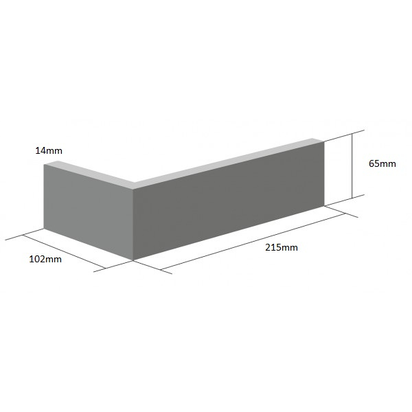 Coltar Ceramic Klinker Pelaris Dim Grey 215/102 x 65 x 14 mm [0]