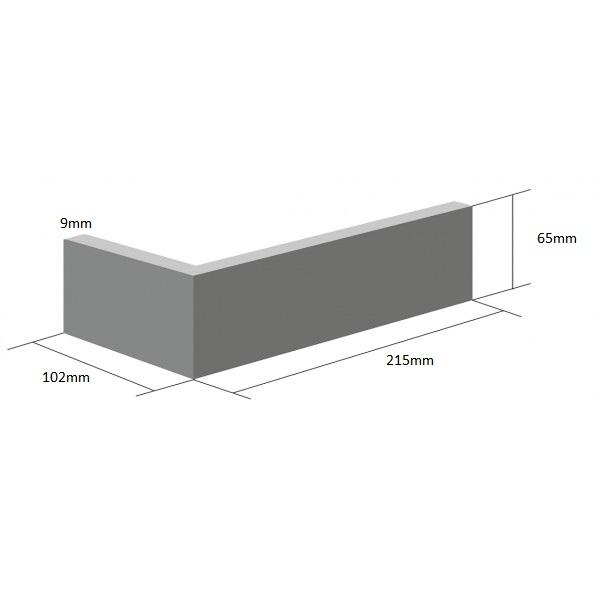 Coltar Ceramic Klinker Armis Smoky Grey 215/102 x 65 x 9 mm [0]