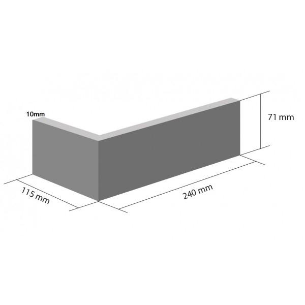 Coltar Ceramic Klinker HF01 Marrakesh Dust 115/240 x 71 x 10 mm [1]