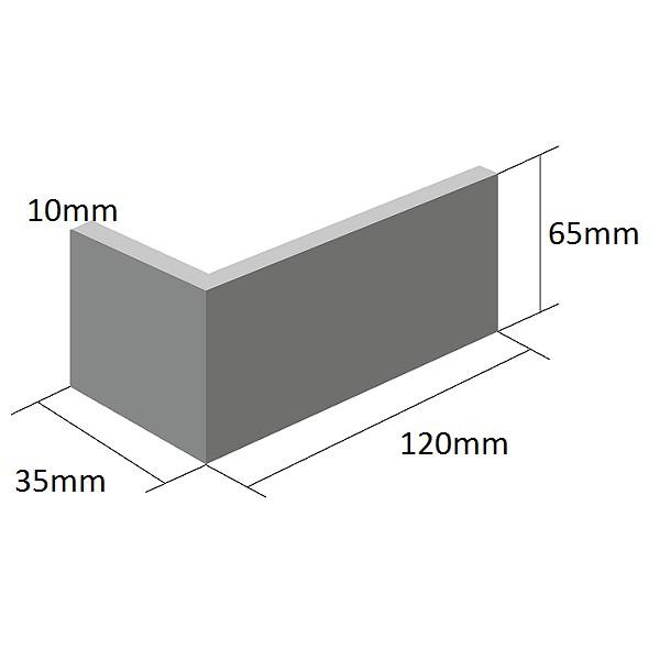 Coltar Ceramic Klinker 12 Misty Morning / Argintiu 120/35 x 65 x 10 mm [1]