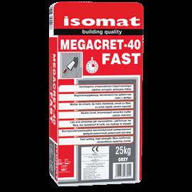 isomat Megacret-40 Fast Mortar Armat cu Fibre, cu Priza Rapida si Rezistente Mari, Pentru Reparatii si Segregari, 25kg [0]