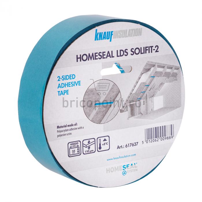 KnaufInsulation Homeseal LDS Solifit-2, 35mm, 40m/rola - Banda Dublu Adeziva 0