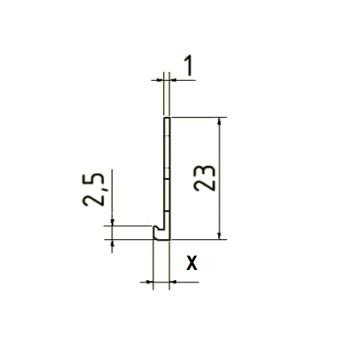 Profil de Inchidere, Delimitare sau Separatie Finisaje 2m 3