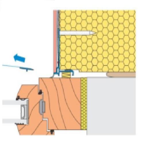 Profil de Legatura LS3 pentru Ferestre Prevazute cu Rulouri (pentru caseta metalica) 2