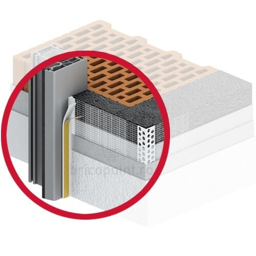 Profil Etansare si Conexiune Tamplarie Pentru Termosistem cu Lamela Giga Flex,  10mm, 2.4 m/buc, 60 m/ set|25buc [1]