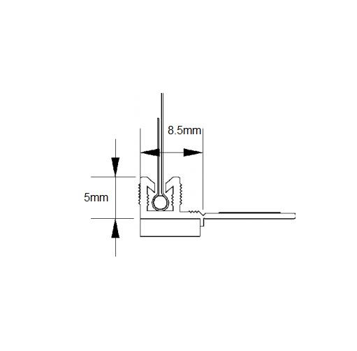 Anputzleiste E - Profil Conexiune Tamplarie, 2.4 m 3