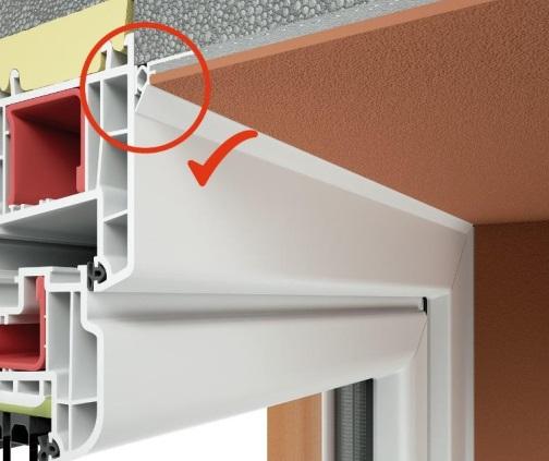 Anputzleiste Schutzlippe aus Weich-PVC - Element Conexiune Tamplarie cu Lamela LS, 2D, 9 mm, 2.6 m 1