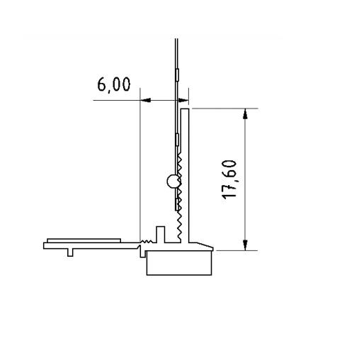 Anputzleiste U - Element de Legatura Usi si Ferestre, 1.6 m 2