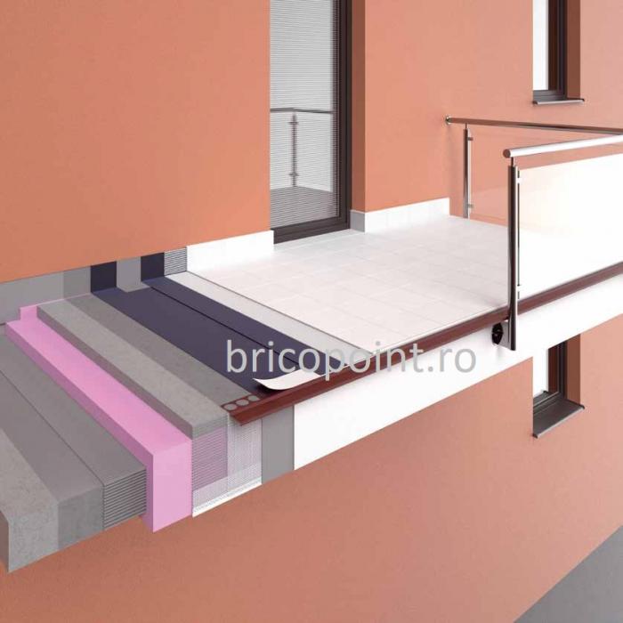 Balkonprofil weiß - Picurator Pentru Balcon sau Terasa, Alb, 2m 1