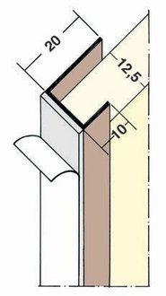 profilu Einfassprofil mit Schaumklebeband - Element Cant Pentru Gips-Carton 12.5mm, 2.5m 1