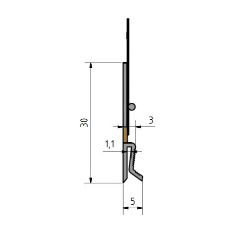 FensterbankAnschlussprofil Flexi H - Element H Conexiune Laterala Glaf 2m [3]