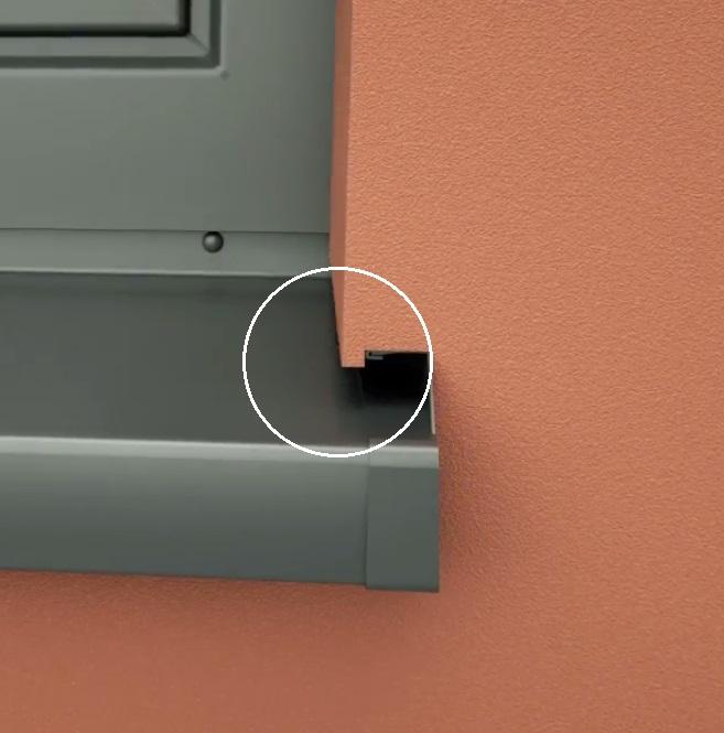 FensterbankAnschlussProfil SP - Element Conexiune Laterala Glaf, 2m [3]