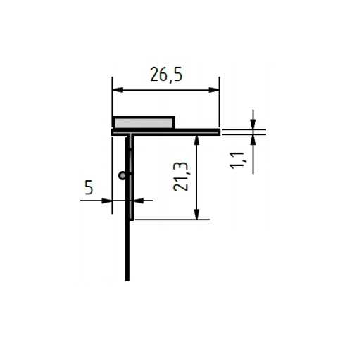 FensterbankProfil LP - Element Conexiune Glaf, 2m 3