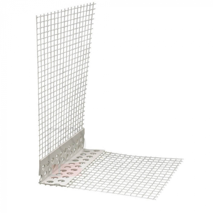 GewebeEckwinkel - Coltar PVC cu Plasa Alba 150x100 mm, 2.5m 0