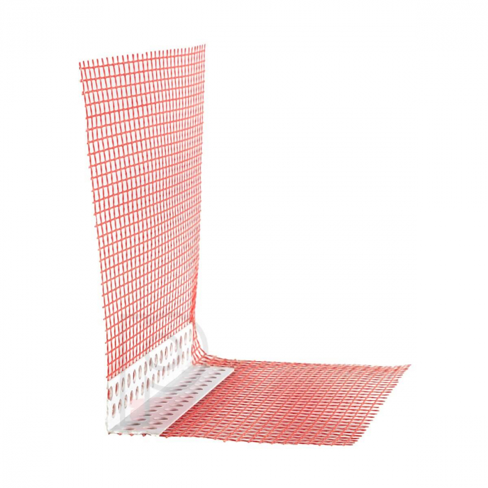 GewebeEckwinkel - Coltar PVC Premium cu Plasa Rosie 150x100 mm, 2.5 m [0]