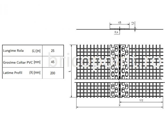 Rolleck - Coltar PVC cu Plasa cu Unghi Variabil 100x100/25 m [cutie cu rola de 25m] 3