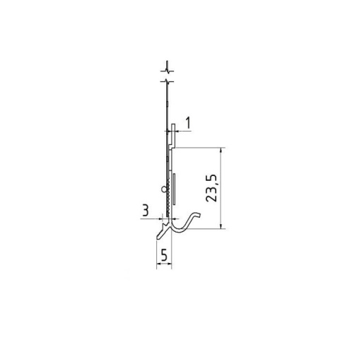 Sockelschienen AufsteckProfil G - Picurator G Pentru Profilul de Soclu din Aluminiu 05/ 2.5m 3