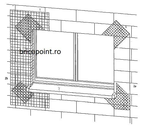 Sturzeckwinke - Plasa Fibra 3D Pentru Armare Colt si Diagonala la Ferestre si Usi 200x350x300 mm [2]
