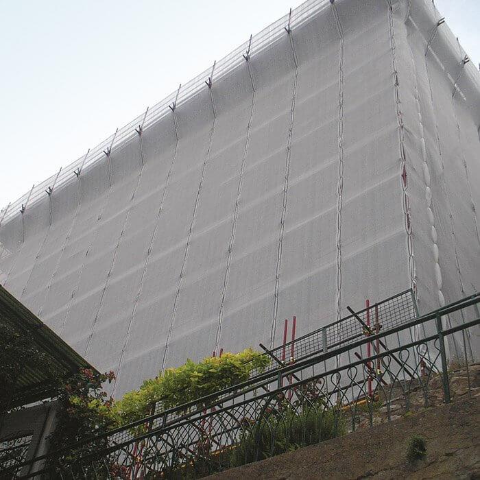 Tesatura de Protectie Impotriva Prafului pentru Schela cu Latime 1.8 m x 10 m 2