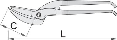 UNIOR 592R/7PR Foarfeca de Tabla Pelican, L 350mm 1