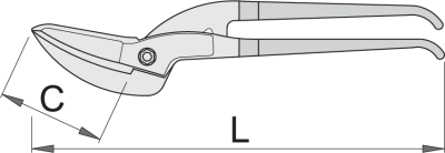 UNIOR 592R-PLUS/7DP Foarfeca de Tabla Pelican, L 350mm [1]
