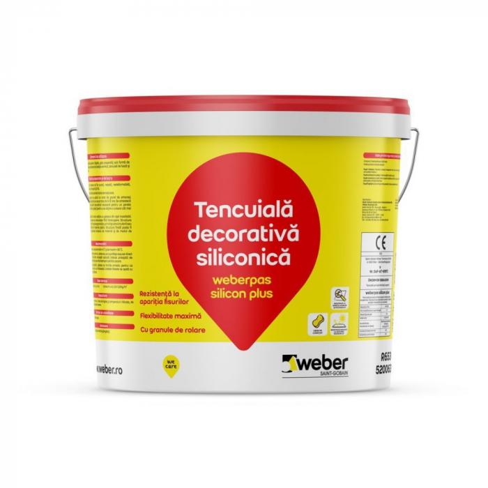 weberpas Silicon Plus Tencuiala Decorativa Siliconica, Grupa 3 de Culori, 25kg 0