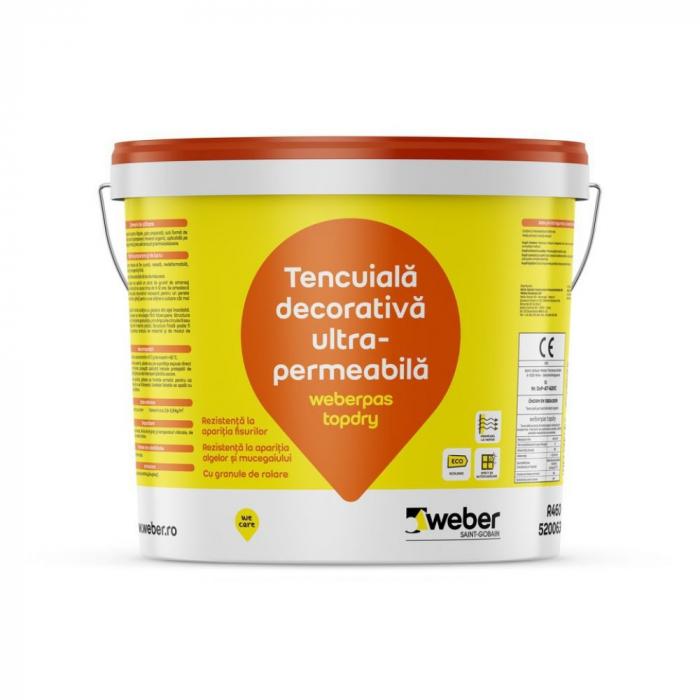 weberpas TopDry Tencuiala Decorativa UltraPermeabila cu Efect Autocuratare, Grupa 3 de Culori, 25kg 0