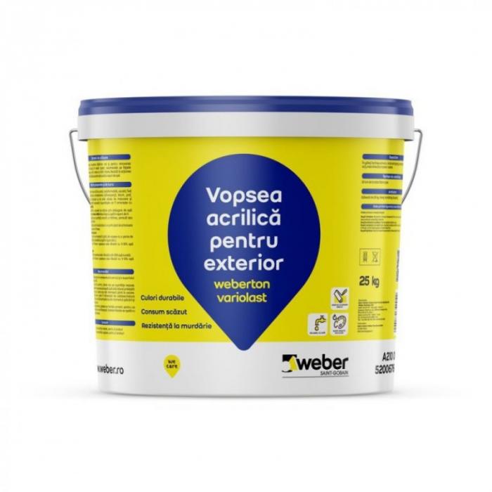 weberton variolast Vopsea Acrilica ptr Fatade, Grupa 3 de Culori, 25kg 0