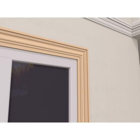 Ancadrament Fereastra pentru Exterior din Polistiren Expandat Laminat cu Rasina FP129, H 120 x L 30 mm, Lungime 2 m2