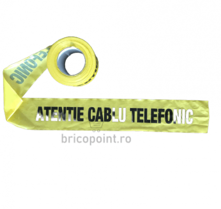 Banda de Semnalizare Galbena - Atentie Cabluri Telefonice, 200m/rola [1]