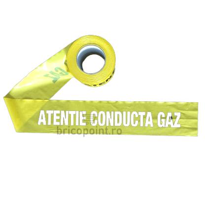 Banda de Semnalizare Galbena - Atentie Conducta Gaz, 200m/rola [1]