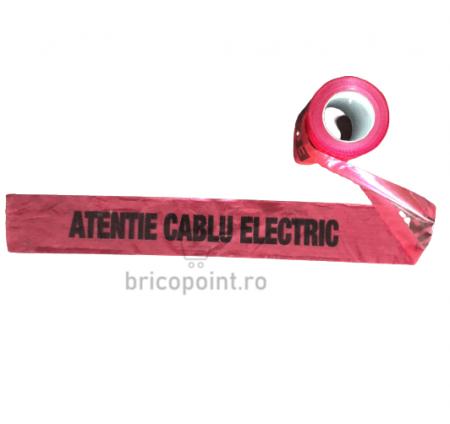 Banda de Semnalizare Rosie - Atentie Cablu Electric, 200m/rola [1]