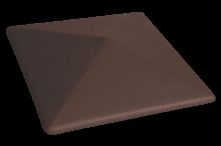 Capac Ceramic 03 Natural Brown Maro, pentru Stalp de Gard0