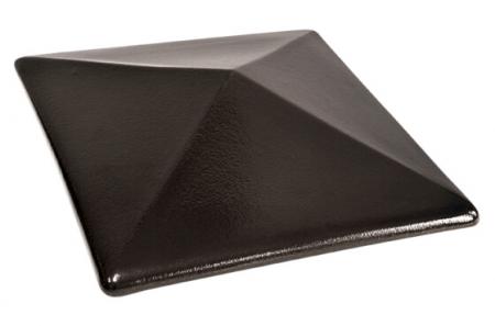 Capac Ceramic 17 Onix Black, pentru Stalp de Gard0