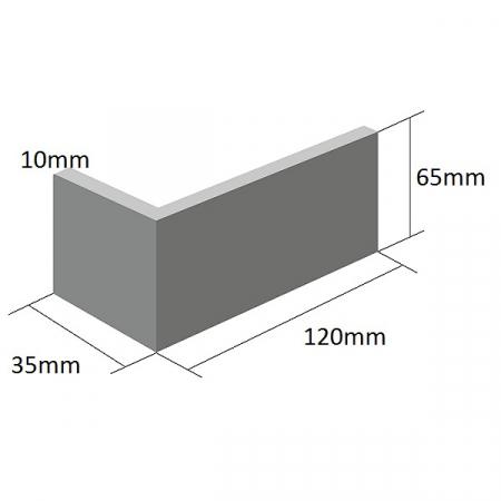 Coltar Ceramic Klinker 18 Volcanic Black / Negru 120/35 x 65 x 10 mm [1]