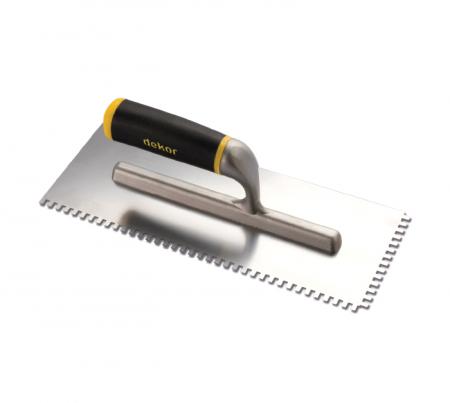 Dekor Gletiera cu Maner Deschis din Aluminiu/Cauciuc si Zimti 4x6 mm [0]