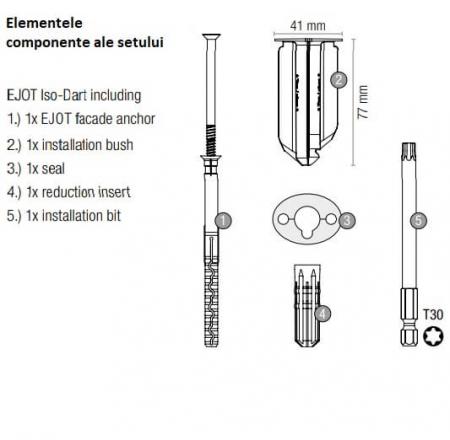 Diblu Fixari Burlane, Panouri pe Termoizolatii ejotherm Iso-Dart [2]