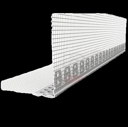 Gewolbewinkel - Coltar PVC Arcuibil cu Plasa Alba 100x150 mm, 30x30 mm, 2.5 m [0]