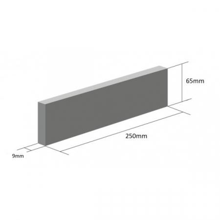 Placaj Ceramic Klinker 17 Onyx Black 250 x 65 x 10 mm [1]