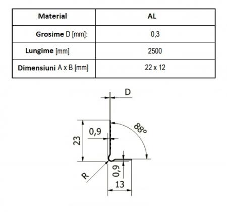 Göppinger Abschlussprofil - Profil Aluminiu pentru Cant Placi Gips-Carton, tip L [2]