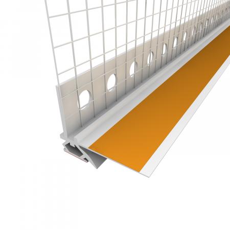 Anputzleiste Schutzlippe aus Weich-PVC - Element Conexiune Tamplarie cu Lamela LS, 2D, 9 mm, 2.6 m0