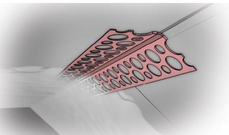 Coltar PVC cu Unghi Variabil pentru Glet, 25 m/rola [1]