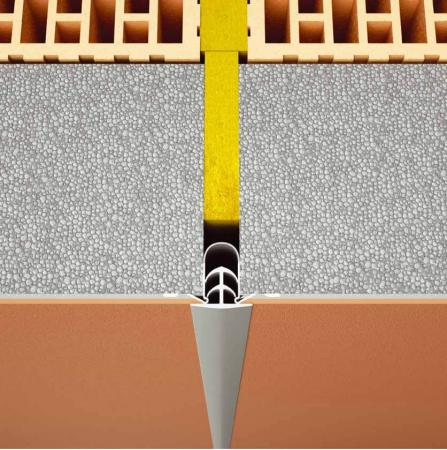 Dehnfugenprofil E grey - Element de Rost de Dilatatie Continuu 2.5 m1