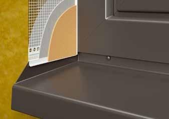 FensterbankAnschlussprofil Flexi H - Element H Conexiune Laterala Glaf 2m [2]