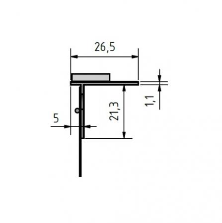 FensterbankProfil LP - Element Conexiune Glaf, 2m3