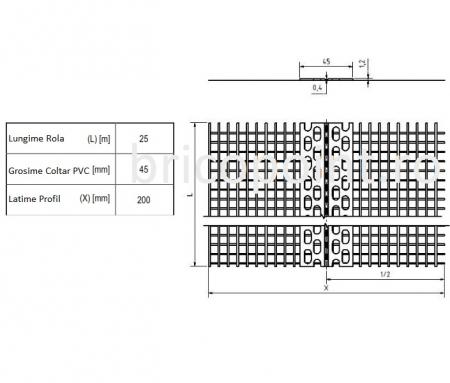 Rolleck - Coltar PVC cu Plasa cu Unghi Variabil 100x100/25 m [cutie cu rola de 25m]3