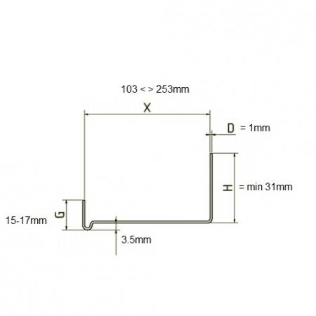 Sockelabschlussleiste - Sina Soclu Rigida din Aluminiu, 2.5 m2