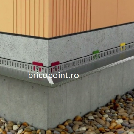 Sockelabschlussleiste - Sina Soclu Rigida din Aluminiu, 2.5 m1