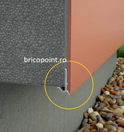 Sockelschienen AufsteckProfil G - Picurator G Pentru Profilul de Soclu din Aluminiu 05/ 2.5m1