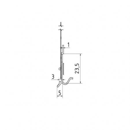 Sockelschienen AufsteckProfil G - Picurator G Pentru Profilul de Soclu din Aluminiu 05/ 2.5m3